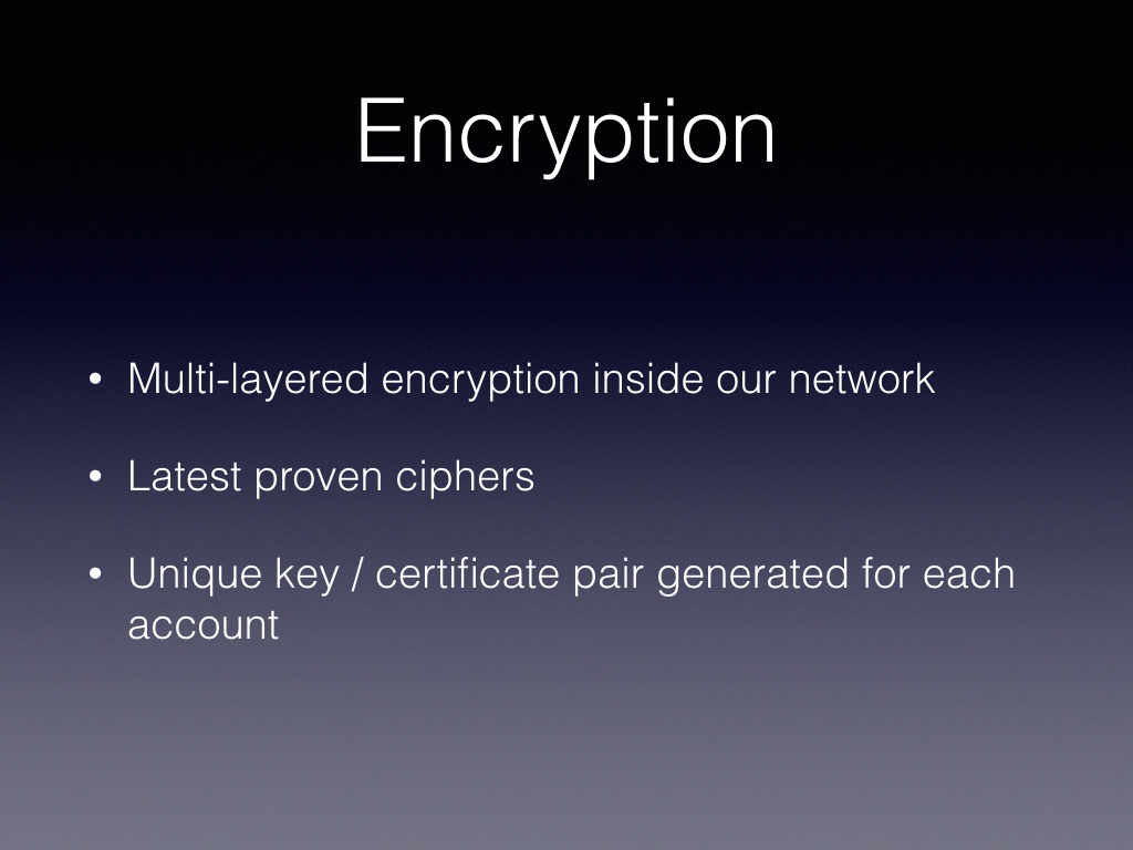 VPN encryption